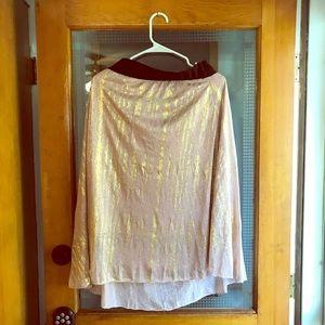 Lularoe Elegant Lola Skirt gold glitter xl